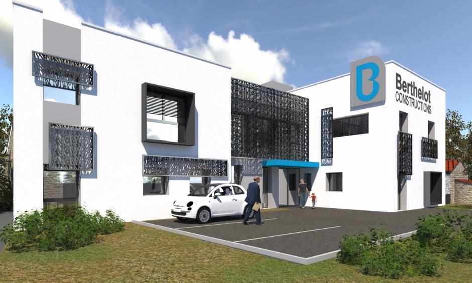 Construction du si ge social de l 39 entreprise berthelot for Berthelot construction carquefou