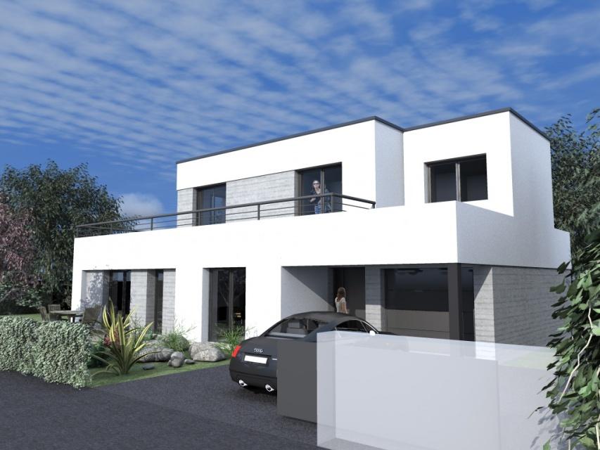 Esquisse d 39 une maison contemporain atelier alias for Contemporain maison