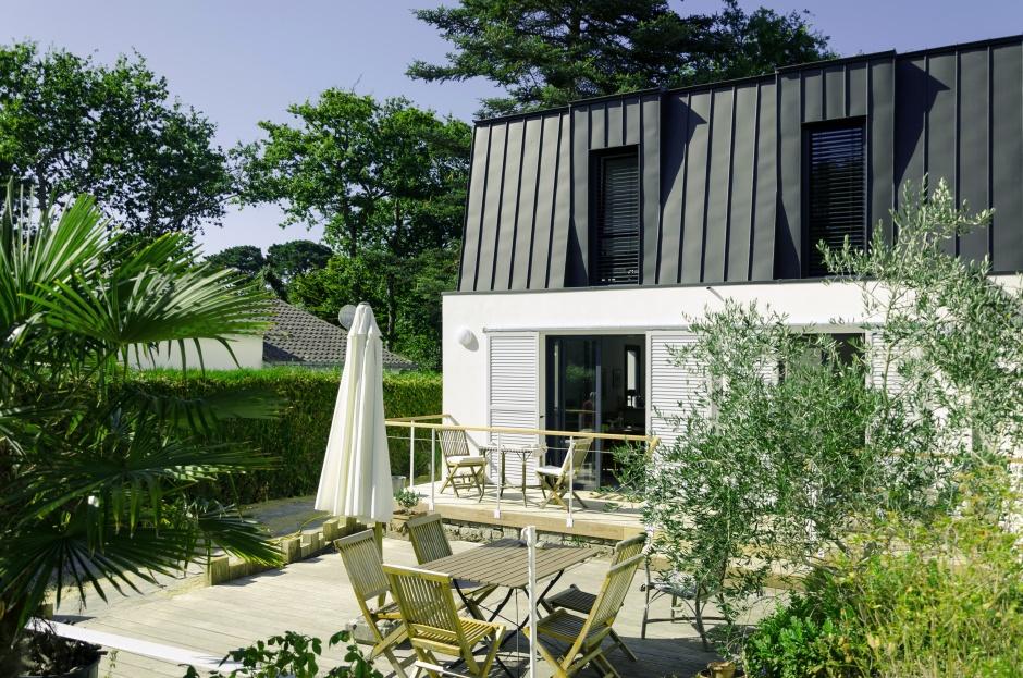 r novation et extension d 39 une maison pornichet. Black Bedroom Furniture Sets. Home Design Ideas