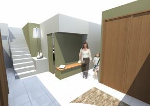 Aménagement hall d'entrée d'une maison à La Baule
