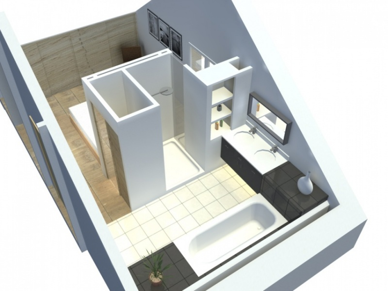 Am nagement d 39 une suite parentale pornichet atelier alias for Agencement salle de bain 4m2