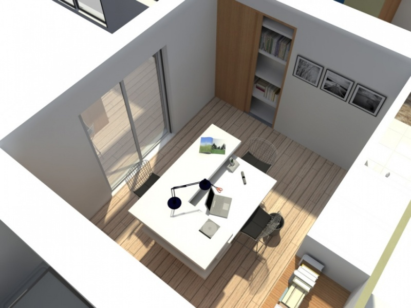 Extension et sur l vation d 39 une maison la baule for Bureau a la maison amenagement