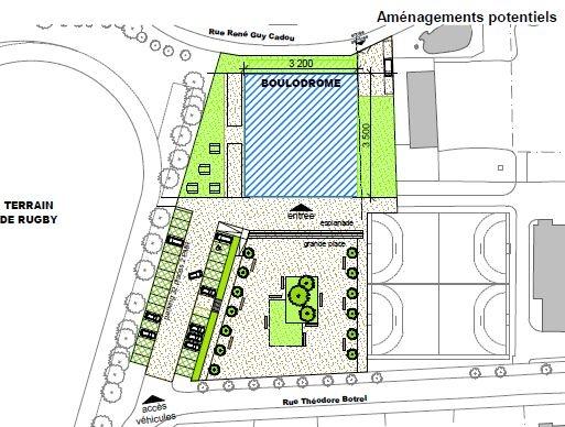 Construction d'un boulodrome au Pouliguen