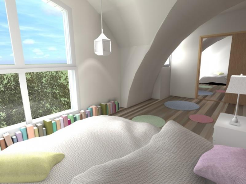 Aménagement chambre d'une villa à Pornichet