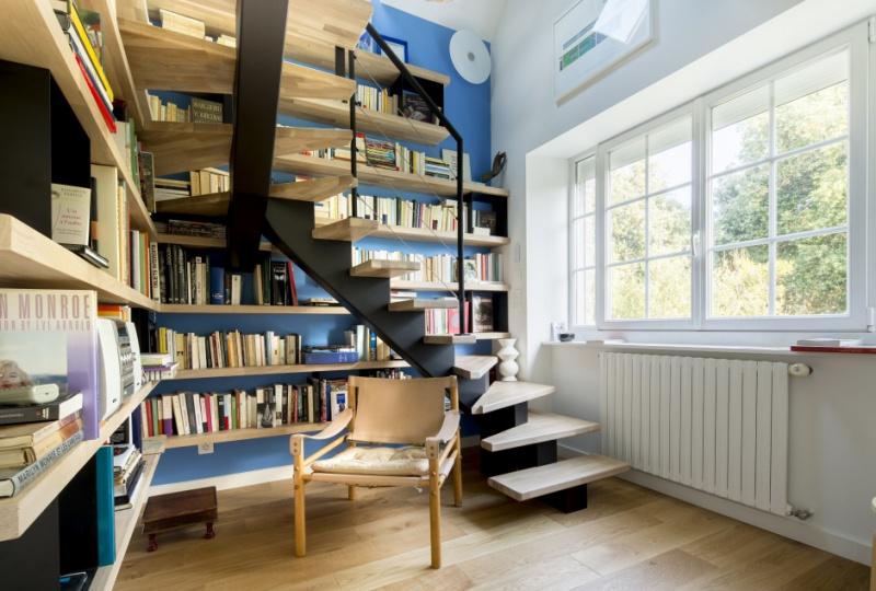 Rénovation et aménagement de combles escalier design